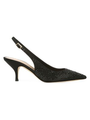 Madalie 2 Embellished Satin Slingback Pumps