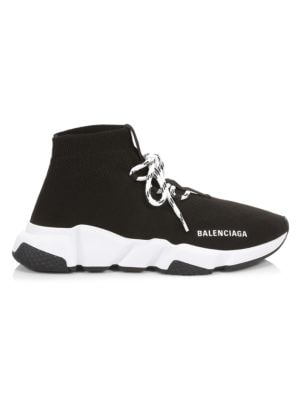 Lace-Up Speed Sock Sneakers