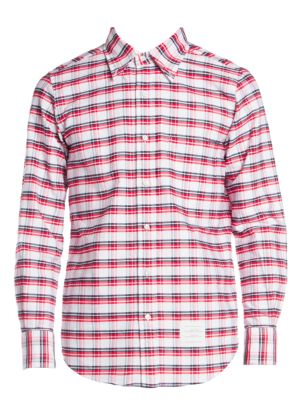 Straight-Fit Button-Down Check Shirt