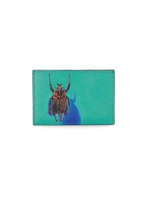 Beetle Graphic Leather Card Case
