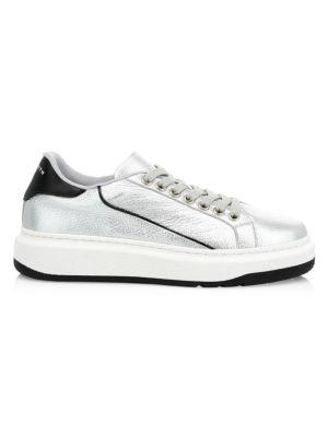 Leyton Metallic Leather Sneakers