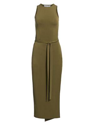 Matte Jersey Sleeveless Midi Dress