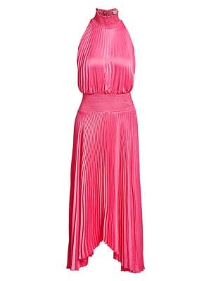 Renzo Pleated Blouson Dress