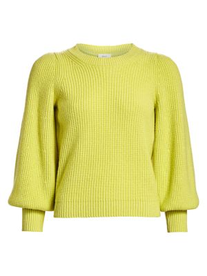 Eliana Puff-Sleeve Wool & Cashmere-Blend Knit Sweater