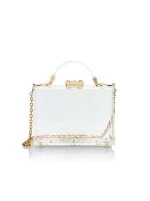 Small Grace Plexi Crossbody Box Bag