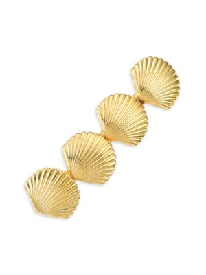 Sandy Goldplated Seashell Barrette