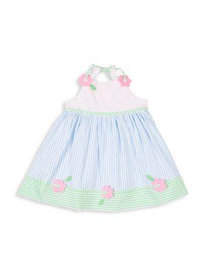 Little Girl's Multi Pastel Seersucker Dress