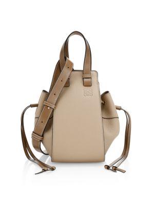 Small Hammock Drawstring Leather Bag