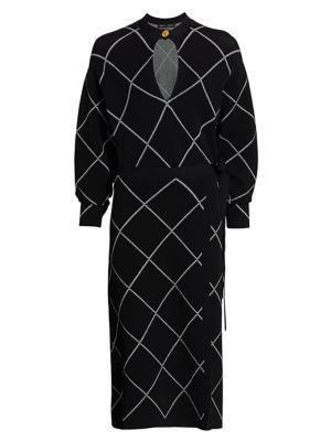 Knit Keyhole Wrap Dress