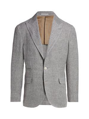 Wool, Linen & Silk Single-Breasted Jacket