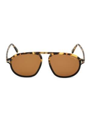 Harrison 57MM Aviator Sunglasses