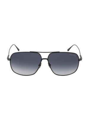 John 62MM Aviator Sunglasses