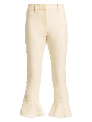 Daria Ruffle Crop Flare Pants