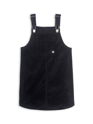 Girl's Velvet Pinafore Dress