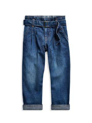Little Girl's & Girl's Paperbag Jeans