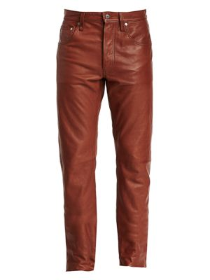 Masc Hi Straight Leather Pants