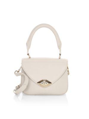 Mini Eye Leather Top Handle Bag