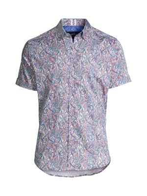 Laramy Multicolor Paisley-Print Short-Sleeve Shirt