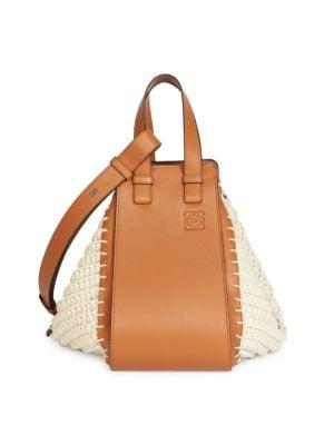 Small Hammock Crochet Leather Bag