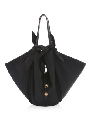 Inda Bow-Trimmed Tote