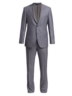 COLLECTION BY SAMUELSOHN Classic-Fit Windowpane Suit