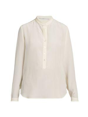 Silk Crepe De Chine Tunic Blouse