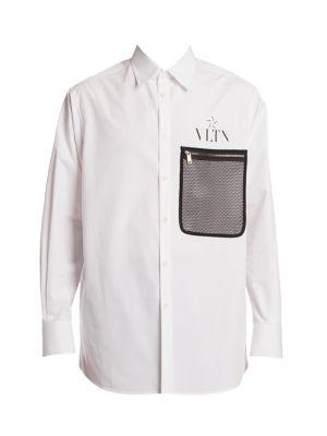 Logo Mesh-Pocket Shirt