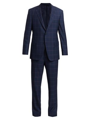 COLLECTION BY SAMUELSOHN Classic-Fit Windowpane Wool Suit