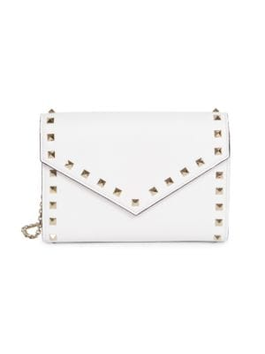 Valentino Garavani Rockstud Leather Wallet-On-Chain