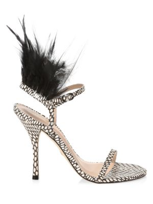Ricki Feathered Sandals