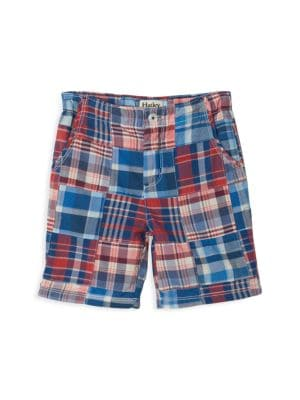 Little Boy's & Boy's Madras Plaid Cotton Short