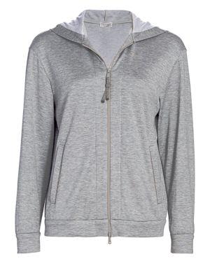 Silk-Blend Jersey Track Jacket