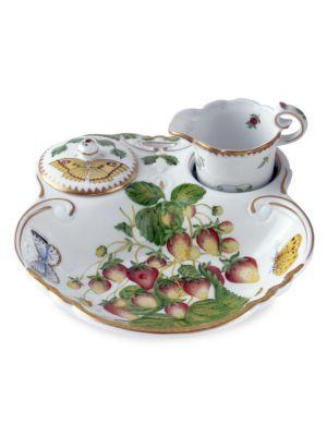 Strawberry 3-Piece Porcelain Tea Set
