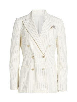 Pinstripe Double Breasted Jacket