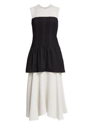 Removable Corset & Pinstripe Dress