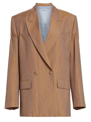 Linen & Wool Double Breasted Jacket