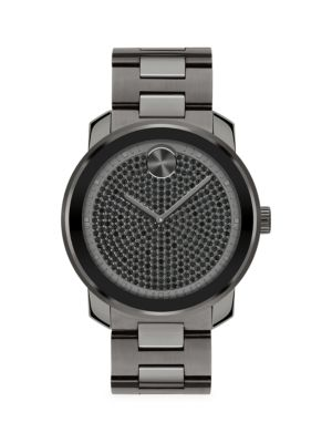 Bold IP Stainless Steel Crystal Quartz Watch