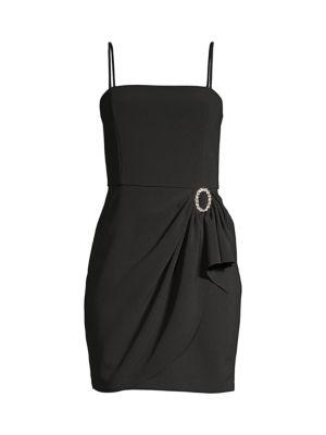Klum Gathered-Waist Crepe Mini Dress