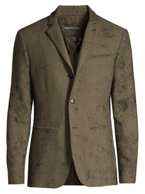 Textured Wool Sport Jacket