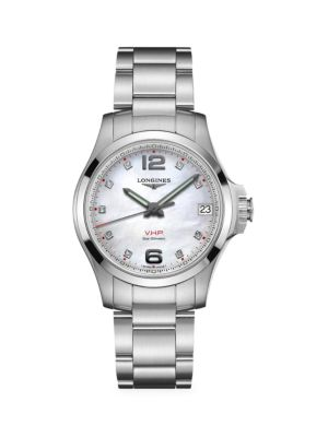 Conquest V.H.P. Classic Stainless Steel Bracelet Watch