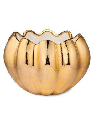 Mirabelle Metallic Ceramic Cachepot