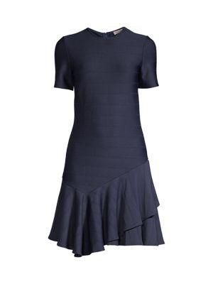 Arista Asymmetrical Flounce-Hem Dress