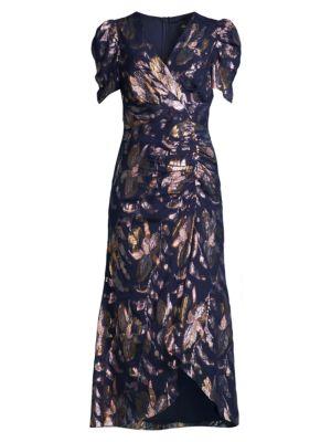 Chloe Metallic Floral Dress