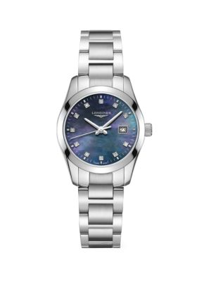 Conquest Classic 29MM Diamond Stainless Steel Automatic Watch