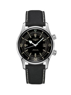 The Longines Legend Diver Automatic Leather-Strap Watch
