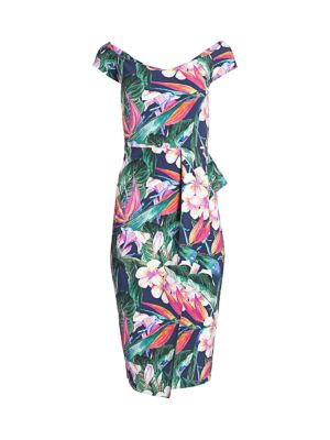 Berenika Floral Off-The-Shoulder Sheath Dress