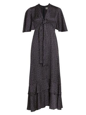 Kasany Polka Dot Midi Dress