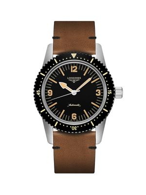 The Longines Skin Diver Leather-Strap Watch