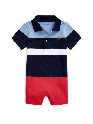 Baby Boy's Cotton Polo Romper