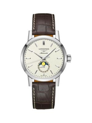 The Longines 1832 40MM Alligator-Strap Automatic Watch